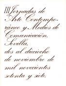 III Jornadas de Arte Contemporáneo y Medios de Comunicación. Grupo Pandora. Editor: Pedro Tabernero.