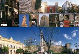 Plaza del Triunfo. Carteles de Turismo. Grupo Pandora. Editor: Pedro Tabernero.